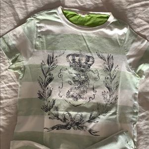 J. Crew Graphic Tee - Rugby Striped Crest XS